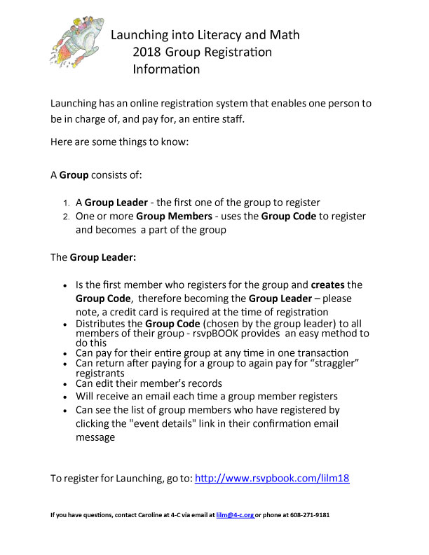 LILM Group Registration Tip Sheet 2018